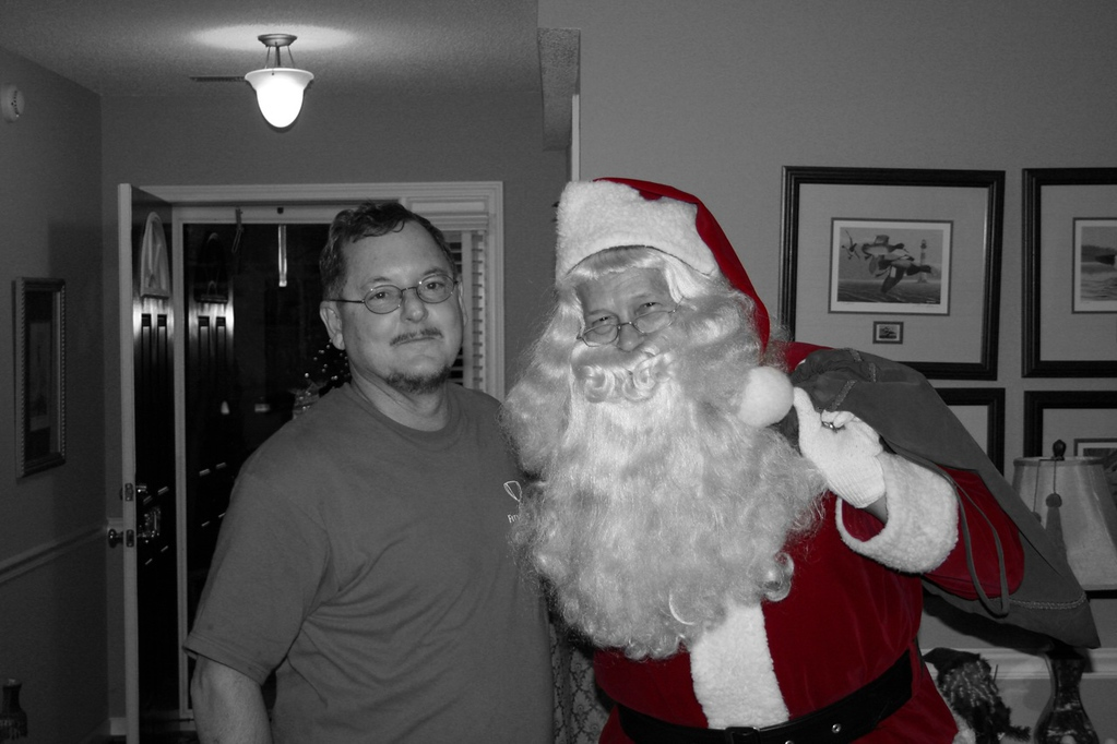 Dad and Santa (in Pleasantville)