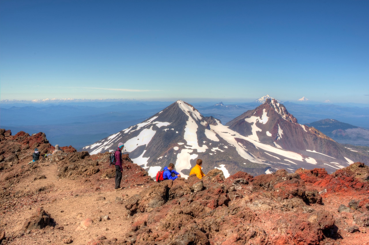 South Sister hikers