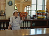 Waitress on a slow day at the Wakulla Springs Lodge.