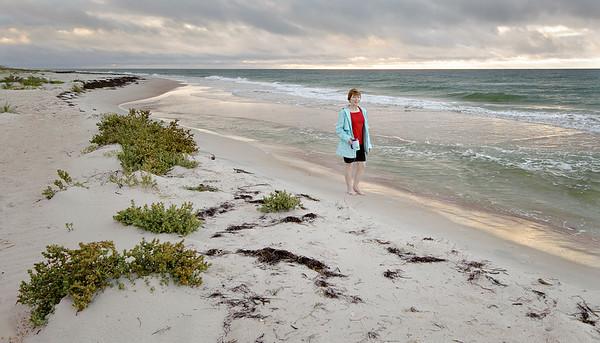 Linda on St. George Island, Florida
