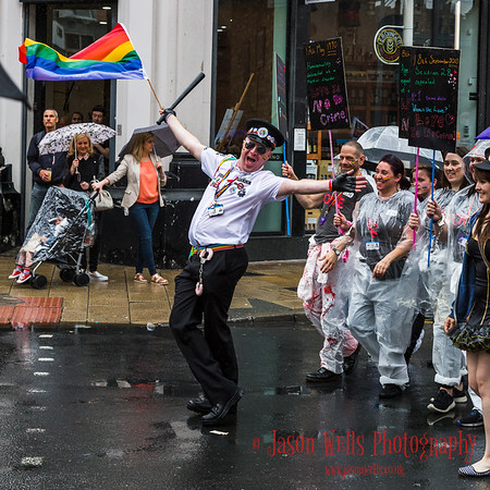 Posing for the camera at Liverpool Pride