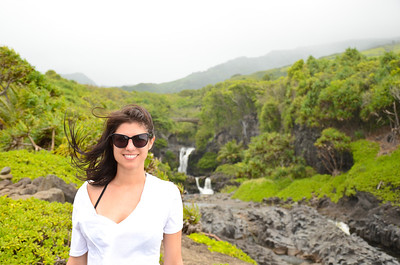 My beautiful wife at the Seven Sacred Pools in Maui, HI.