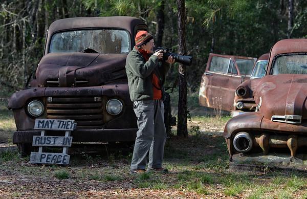 Photographer Lynn Hackett near Crawfordville, Fl.