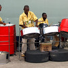 Steel band playing dockside at the Antigua harbor.