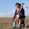 Leonid Babalaev, playing a morin khuur on the steppe near Aginskoye. (Zabaikal Krai, Siberia)