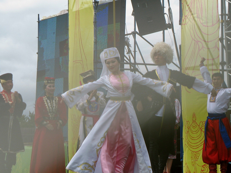 """Dancing through the haze at the """"Ocean of Compassion"""" Ethno-Rock Festival. (Kalmykia, Russia)"""