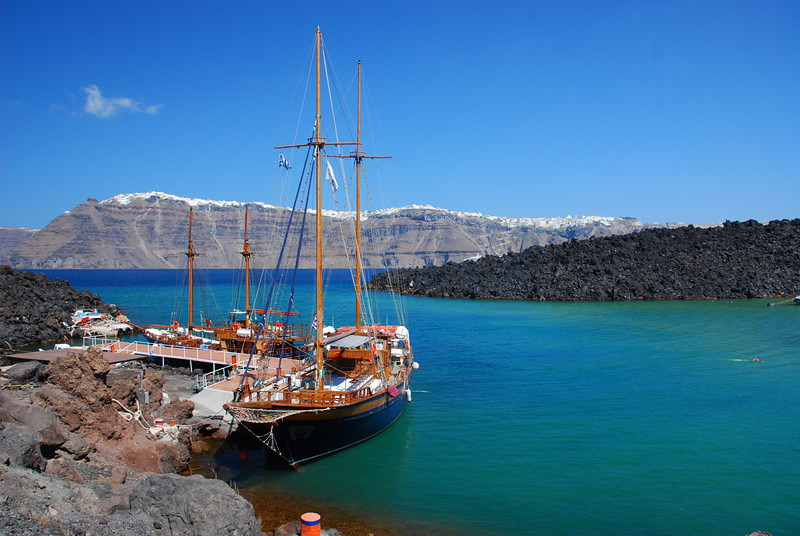 In the middle of the Caldera - Santorini