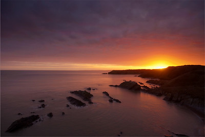 Sunset at Collieston 22 Jan 2011
