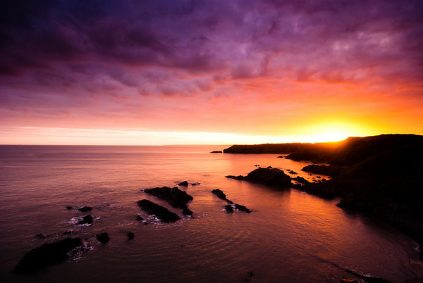 Sunset at Collieston
