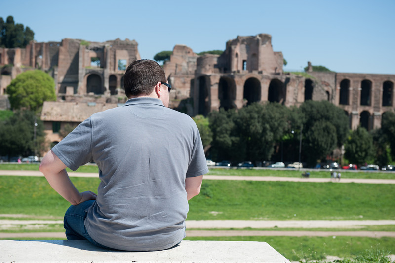 Marc looking at the Circus Maximus