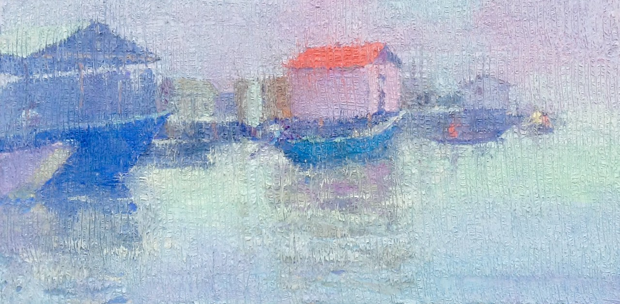 Misty morning   18 x 36 inchhes    Oil on canvas