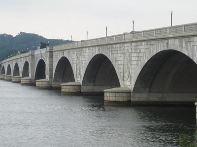 Memorial Bridge fading from D.C. to Virginia.
