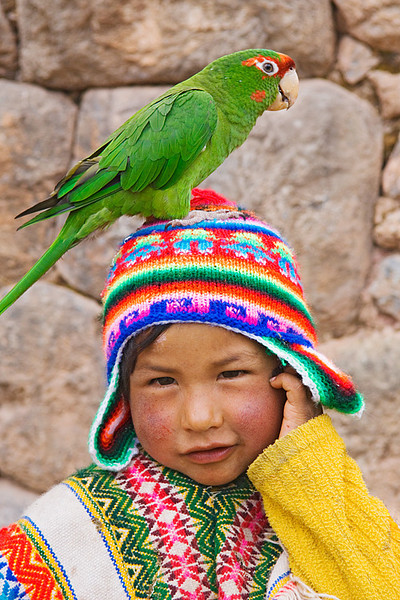 #242 Boy with Parrot, Peru