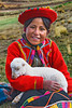 #240 Girl with Lamb, Peru