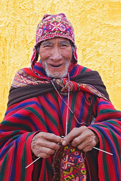 #244 Man Knitting, Chinchero, Peru