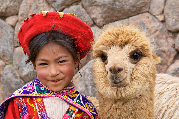 #241 Girl with Alpaca, Peru