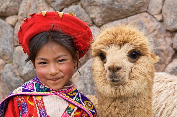 #241 Girl with Alpaca, Peru
