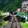 Train Tracks Leading Into Machu Picchu Village