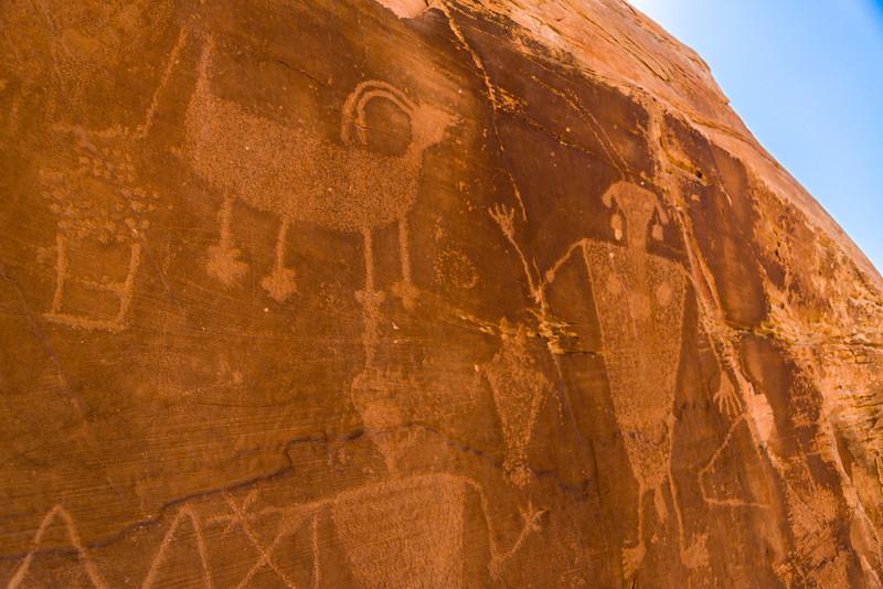 Fremont Style Petroglyphs, Dinosaur National Monument