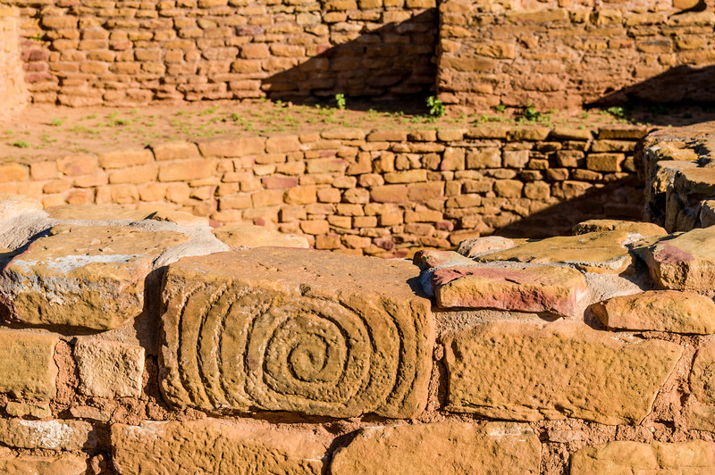 Petroglyph building block, Far View Site, Mesa Verde N.P.