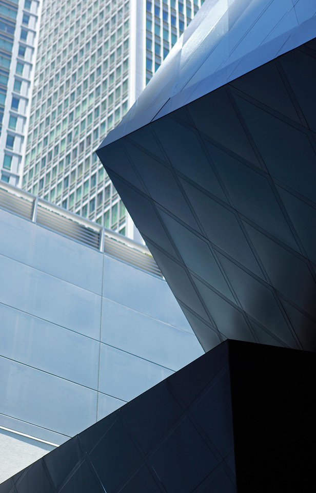 The work of an irreverent architect, Daniel Libeskind, Contemporary Jewish Musuem, San Francisco, CA. July 18.