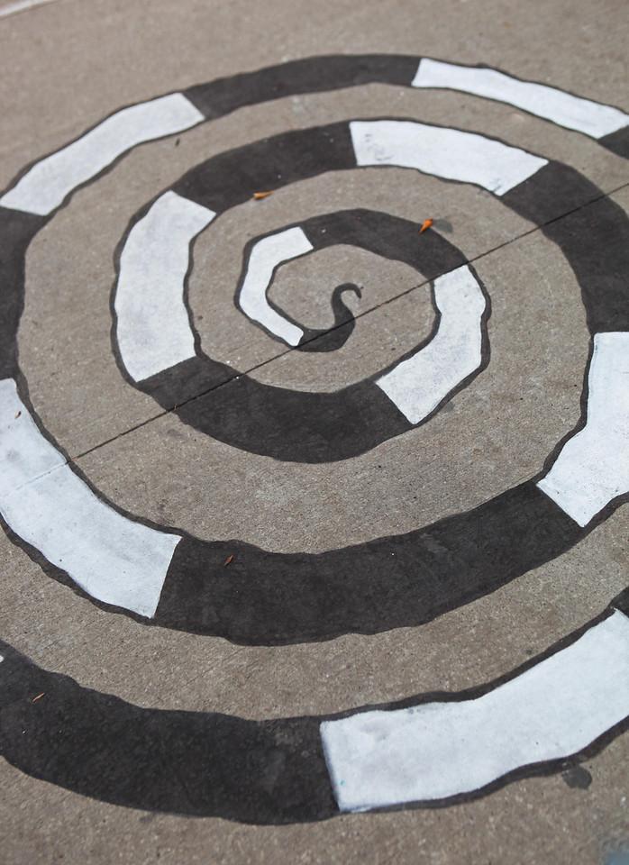 Sidewalk art. Toronto, Canada. Dec 2nd.