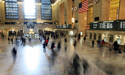 The unbearable lightness of being, Grand Central Station, Manhattan, NY. Dec 7th