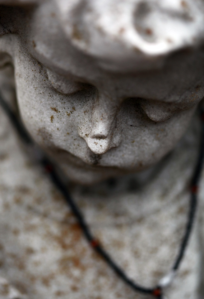 If marble could weep. A broken nose reason enough perhaps, though the sorrow runs deeper the longer you gaze at this sad little statue. January 24, Sunday, Oakland