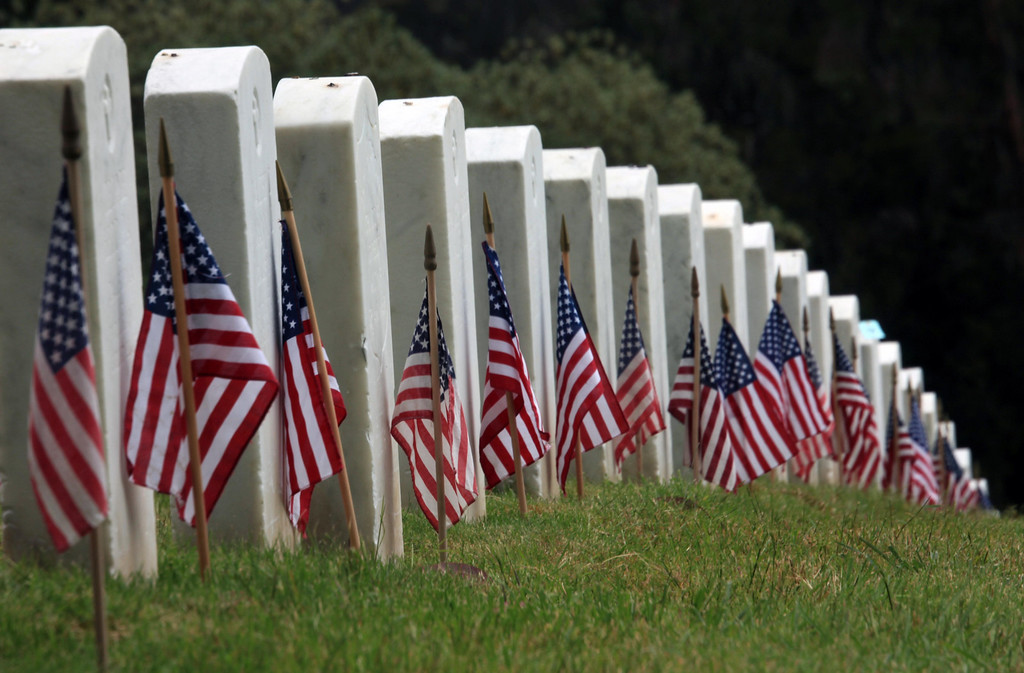 Memorial Day. Flags for the fallen. San Francisco, CA May 30th.
