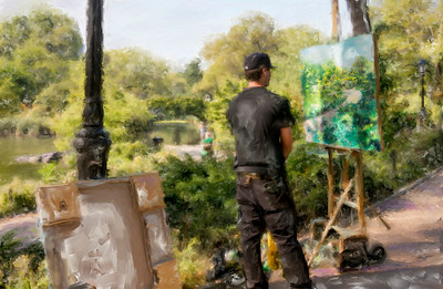 Central  Park Artist Painted