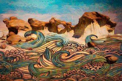 Bisti Badlands Arch Art