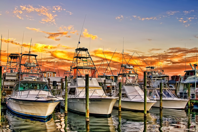 Boats in the marina, Destin, Florida