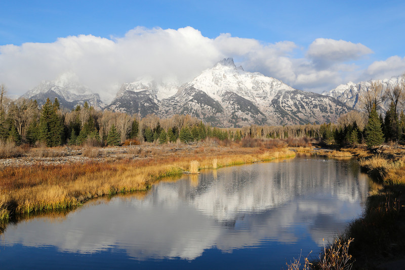 "A view of Schwabacher's Landing in Grand Teton National Forrest. <a href=""http://www.jacksonholewy.net/park_highlights/schwabacher_landing.php"">http://www.jacksonholewy.net/park_highlights/schwabacher_landing.php</a>"