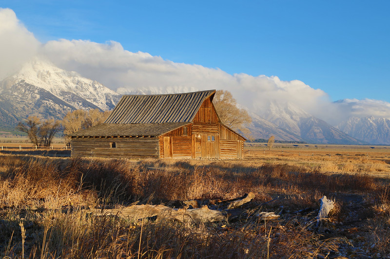 "This is a shot of the southern Moulton Barn just after sunrise. This barn sits on the famous Mormon Road near the Teton National Forrest. <a href=""http://www.moultonranchcabins.com"">http://www.moultonranchcabins.com</a>"