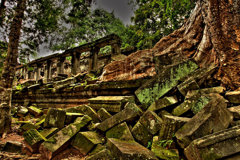Forgotten for centuries, nature has reclaimed the site.