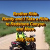 Brother Ride to Redstone Canyon. Drift Innovations Stealth 2 videocam