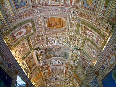 Vatican Museum hallway ceiling.
