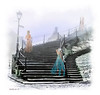 """Going Home"" <br /> - My Ghost women are staged on the stairs of the Whitby Abby on a foggy morning.  I will leave it to your imagination are they ascending upwards towards the Abby to reside there – or perhaps a loftier domain?<br /> Debbie D."