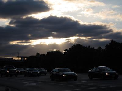 June 2: Sun blazing down through clouds