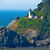 Hecta Head Lighthouse from Highway 101. Oregon