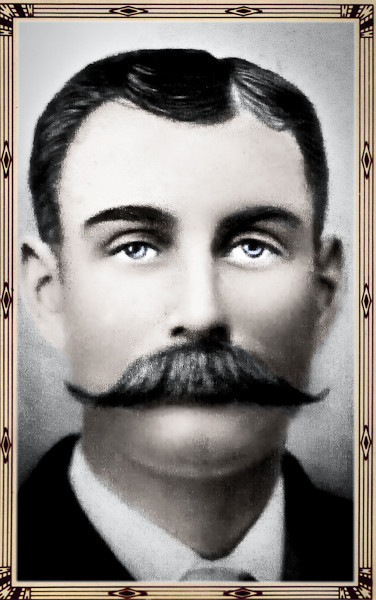 His mustache is epic! It definitely makes this old photo worthy of a full restoration.