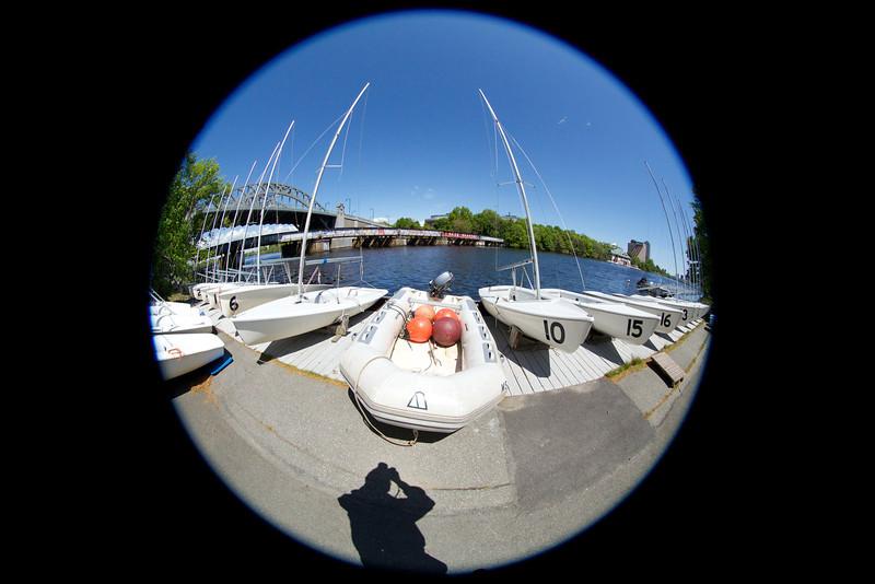 Trying Fisheye at BU Boat Club