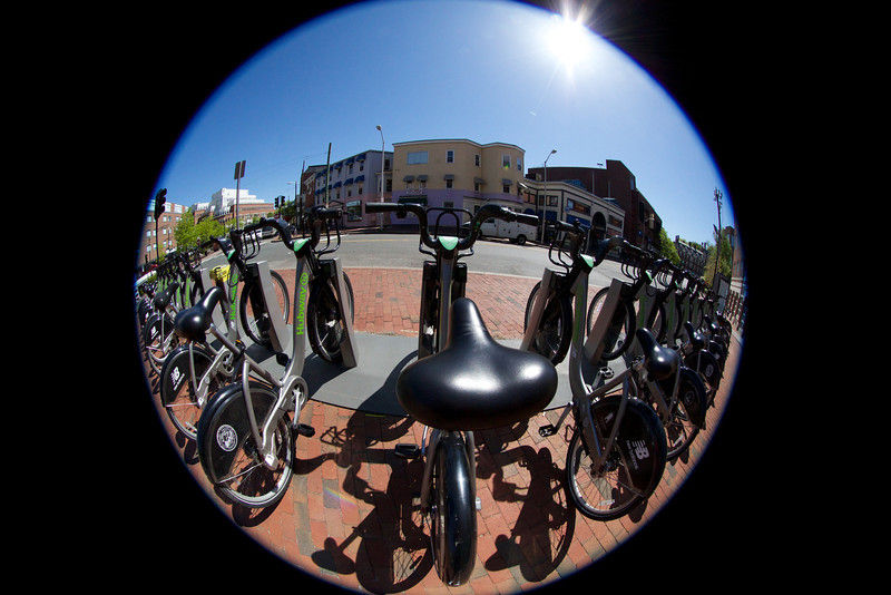 Hubway Station in Cambridge, MA