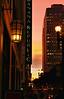 January 9, 2014.  Sunset on Sutter Street