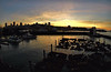 January 10, 2014.  Sunset at Pier 39