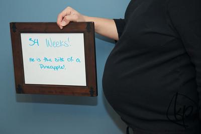 January 16, 2013 34 Weeks Pregnant!