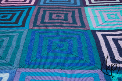 February 3, 2013 Finished Mitered Square Blanket