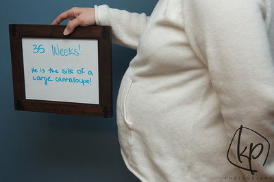 January 23, 2013 35 Weeks Pregnant!