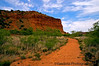 May 14, 2006 - In Caprock canyon..a long hike up to one such peak.