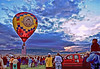 "October 7, 2006 - Albuquerque International Ballon Fiesta 2006 - Mass ascension of hundreds of balloons .. the first balloon with the flag goes up here at dawn, with everybody singing the anthem..More <a href=""http://vandana.smugmug.com/gallery/1983677"">here</a>"